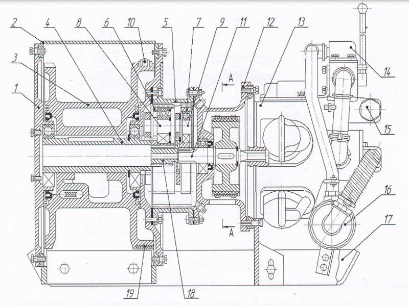 Схема лебедки ШВА 18000х0,25П