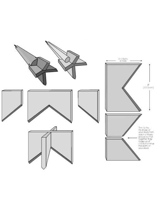 Конструкция ударно-канатного долота. Шаблон с размерами.