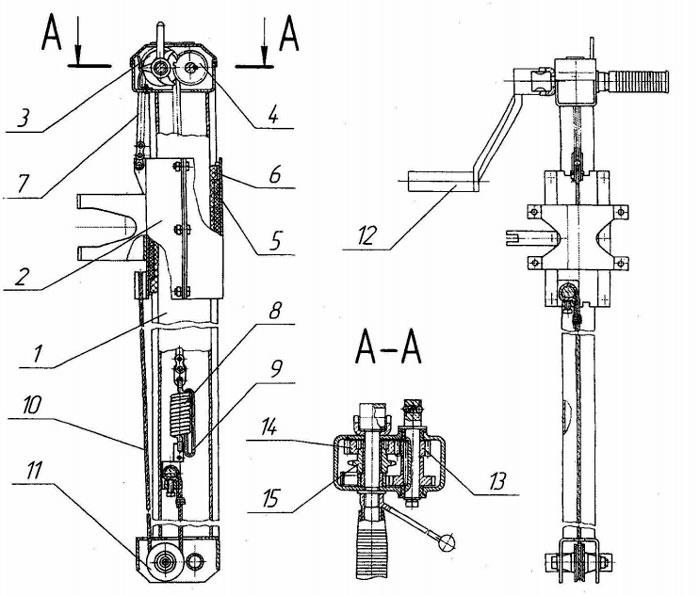 Стойка и механизм подачи КМ-10