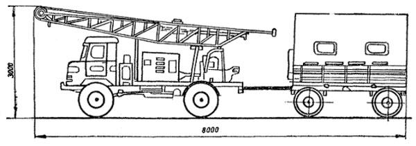 УГБ-50-м и прицеп 2пн2